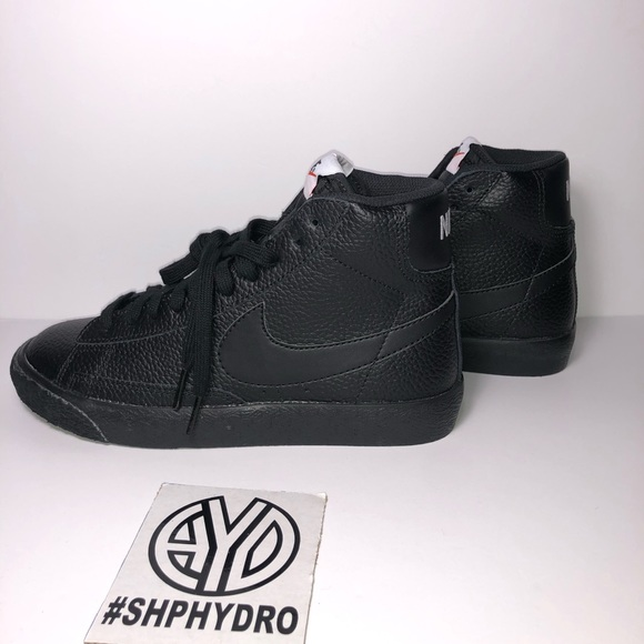 pretty nice 7d646 7f4c8 Nike Blazer Mid GS lifestyle Sneaker Leather black